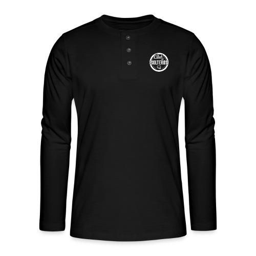Club de Solteros (logo blanco) - Camiseta panadera de manga larga Henley