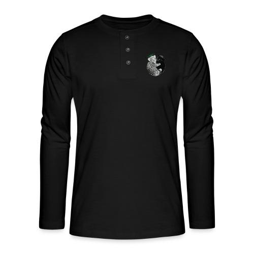 panther jaguar Limited edition - Henley T-shirt med lange ærmer