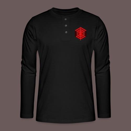 Hexagon Cube - Henley T-shirt med lange ærmer