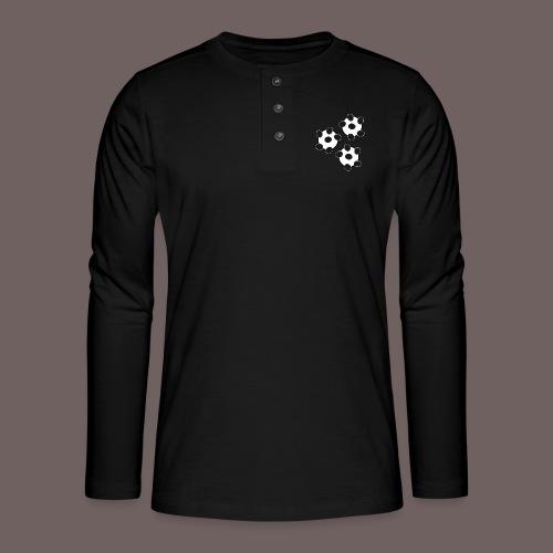GBIGBO zjebeezjeboo - Fun - Wiggle Wiggle 01 Noir - T-shirt manches longues Henley