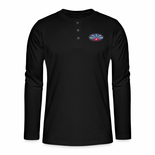 Paddle Reunion Flag - T-shirt manches longues Henley
