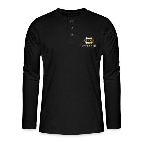 Logo vorn und hinten hell - Henley Langarmshirt