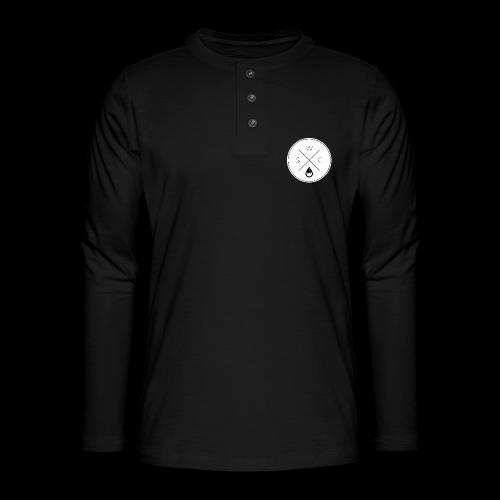 WSC Hipster-Logo rund weiß - Henley Langarmshirt