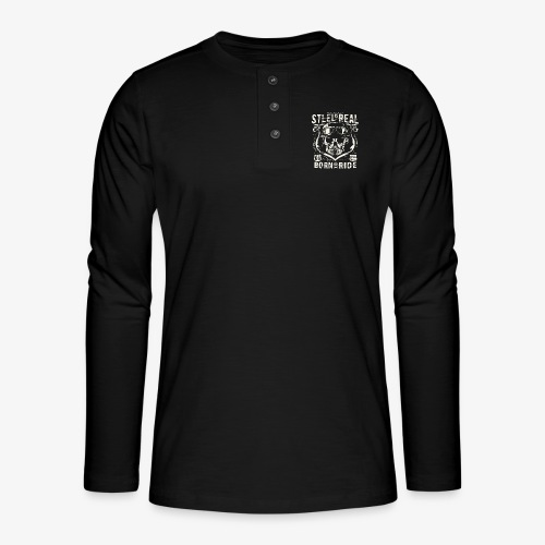 Avez-No Fear Is Real Steel Born to Ride is 68 - T-shirt manches longues Henley