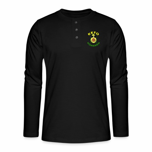 Keto powered - Keto Low Carb T-Shirt - Henley Langarmshirt