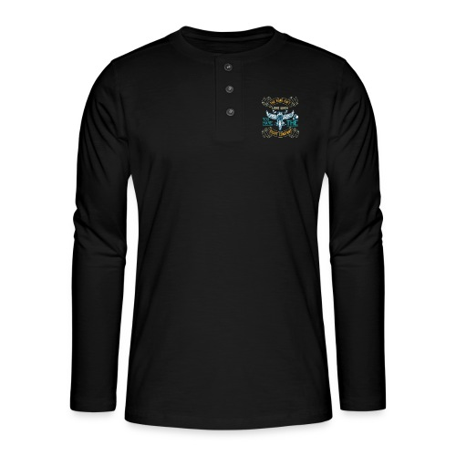 The road isn't long when you have the right compan - Henley long-sleeved shirt
