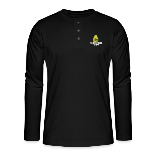 Avocado: The Good Kind of Fat - Henley long-sleeved shirt