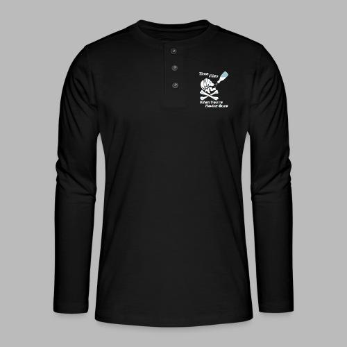 Time Flies Ouzs Shirt - Henley Langarmshirt