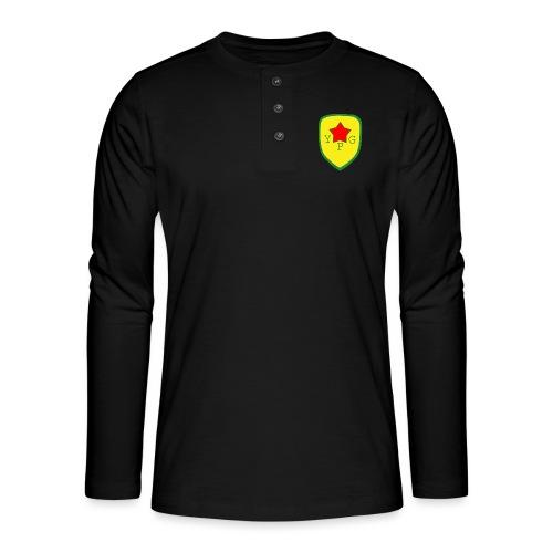Mens Green YPG Support Tee - Henley pitkähihainen paita