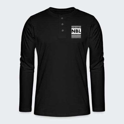 Męska Koszulka Premium New Bad Line - Koszulka henley z długim rękawem