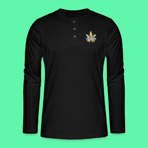 Mary Jane multi - Henley T-shirt med lange ærmer