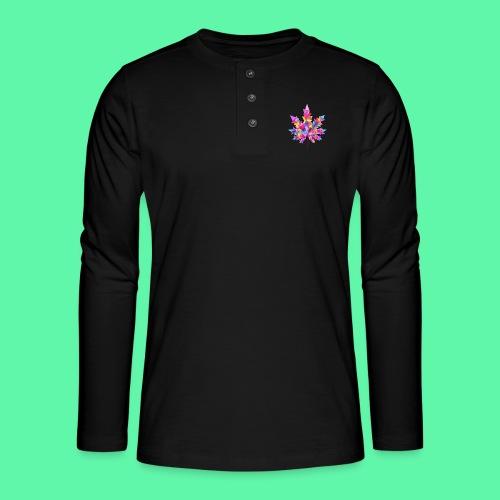 Mary Jane pink - Henley T-shirt med lange ærmer