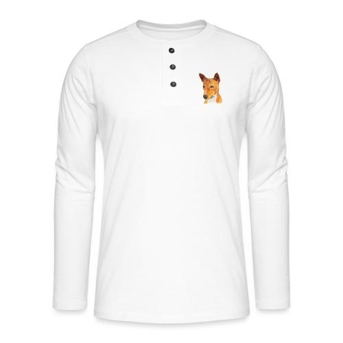 Basenji - Henley T-shirt med lange ærmer