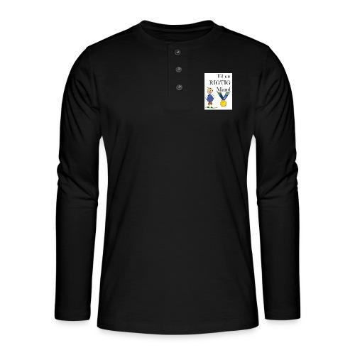 En rigtig mand - Henley T-shirt med lange ærmer