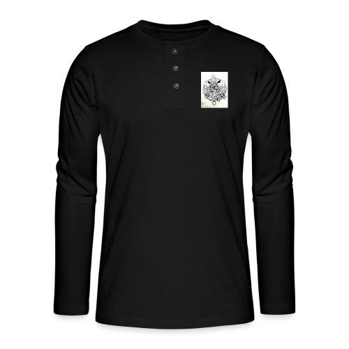 guerriere celtique entrelacs bretagne femme - T-shirt manches longues Henley