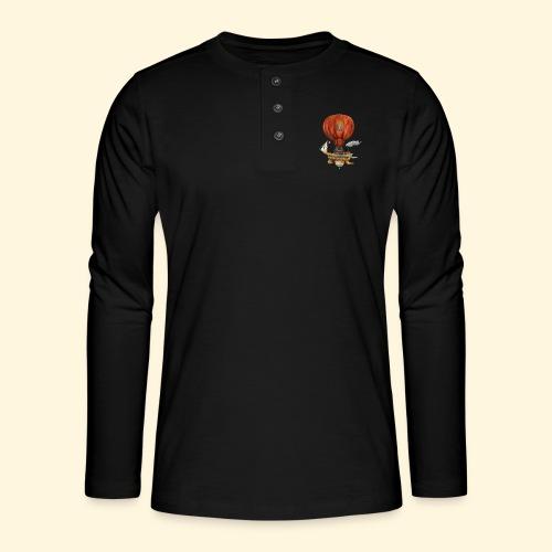 Le Haut-de-France - Bateau Steampunk Ch'ti - T-shirt manches longues Henley