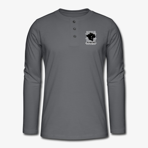 Too many faces (NF) - Henley long-sleeved shirt