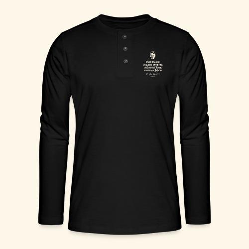 T-Shirt Zitat Karl Kraus über Kultur - Henley Langarmshirt