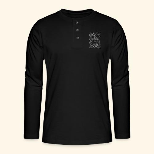 Bubbles003 - Henley shirt met lange mouwen