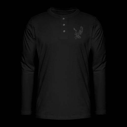 Circuit eagle White - Henley T-shirt med lange ærmer