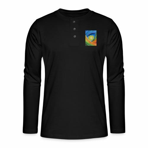 lachende-sonne - Henley Langarmshirt