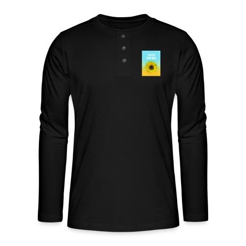 sunflower endless summer Sonnenblume Sommer - Henley long-sleeved shirt