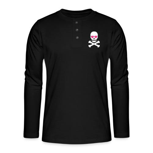 Skull Love - Henley shirt met lange mouwen