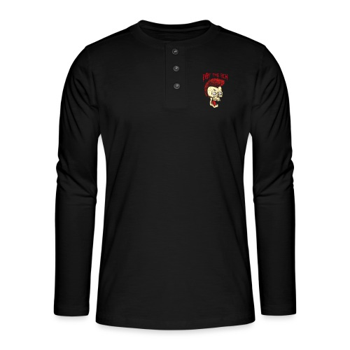 Eat The Rich (For Dark Shirts) - Henley Langarmshirt