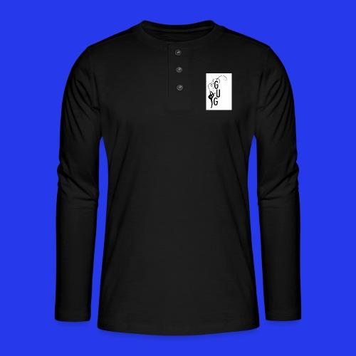 GUG logo - Henley Langarmshirt