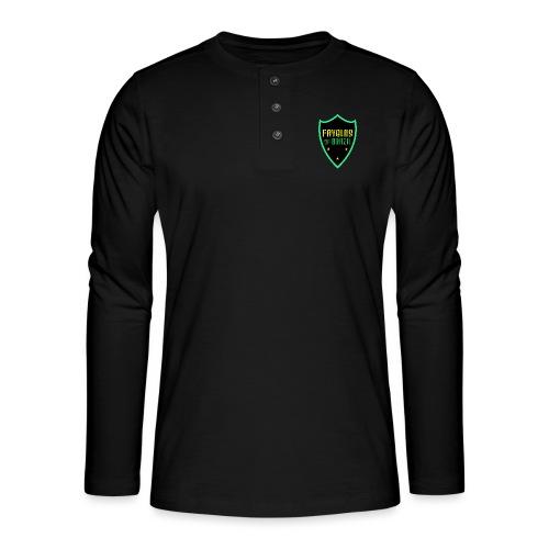 FAVELAS OF BRAZIL NOIR VERT DESIGN - T-shirt manches longues Henley