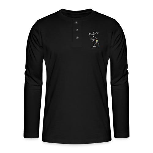 Dru - bunt pinkeln - Henley Langarmshirt