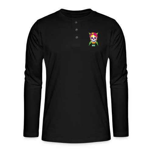 Ptb skullhead - Henley long-sleeved shirt