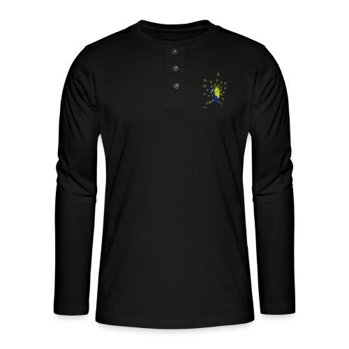 BEPROUD.png - Henley shirt met lange mouwen
