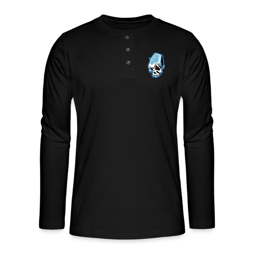 Skull Graffiti - T-shirt manches longues Henley