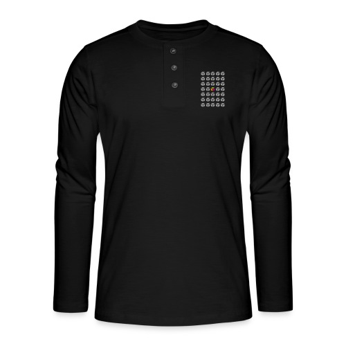 grid semantic web - Henley long-sleeved shirt