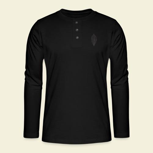 Feuille marron Squelette - T-shirt manches longues Henley