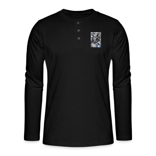 Jumio Print - Henley pitkähihainen paita