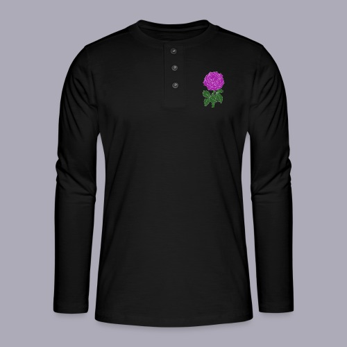 Landryn Design - Pink rose - Henley long-sleeved shirt