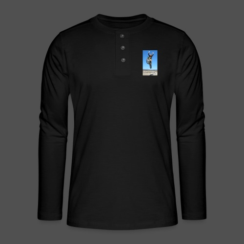 Stuntvrouw (v) - Henley shirt met lange mouwen