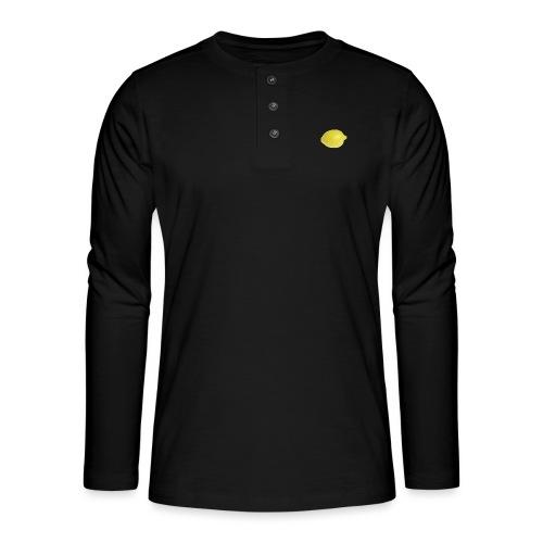 Zitrone - Henley Langarmshirt