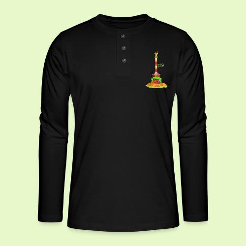 DIE Siegessäule / BerlinLightShow / PopArt - Henley Langarmshirt
