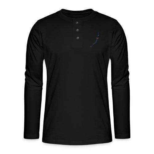 isar_girl_black - Henley Langarmshirt