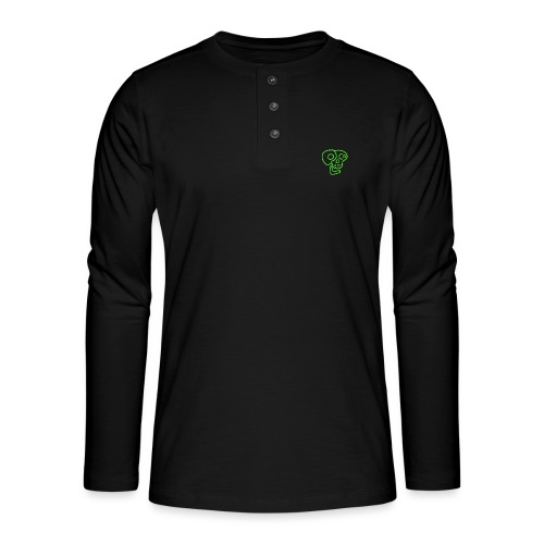 poco loco logo green - Henley long-sleeved shirt