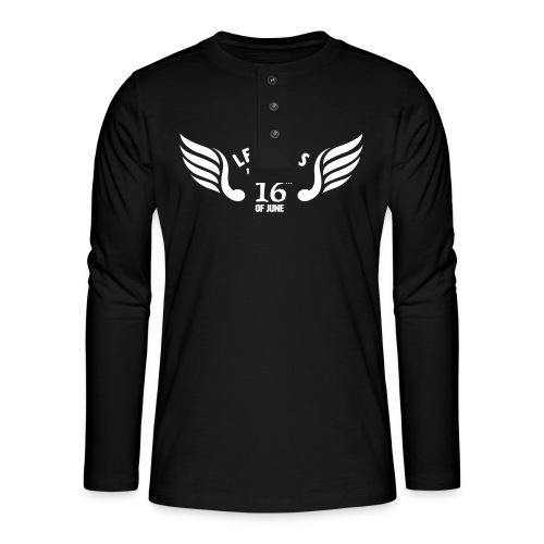Legends are born on the 16th of june - Henley shirt met lange mouwen