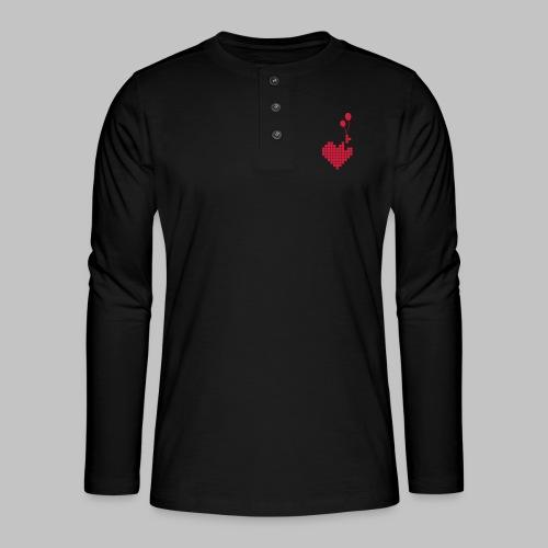 heart and balloons - Henley long-sleeved shirt