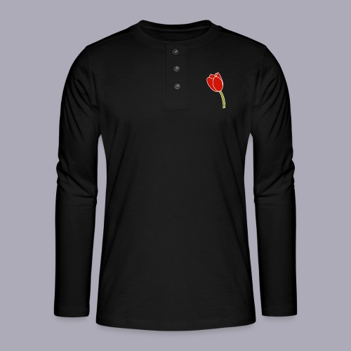 Tulip Logo Design - Henley long-sleeved shirt