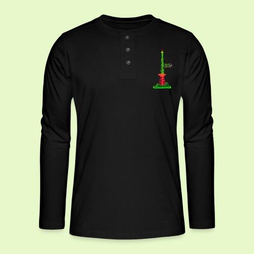 Funkturm / BerlinLightShow / PopArt Style - Henley Langarmshirt