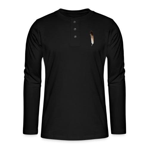 Vogel Feder - Henley Langarmshirt