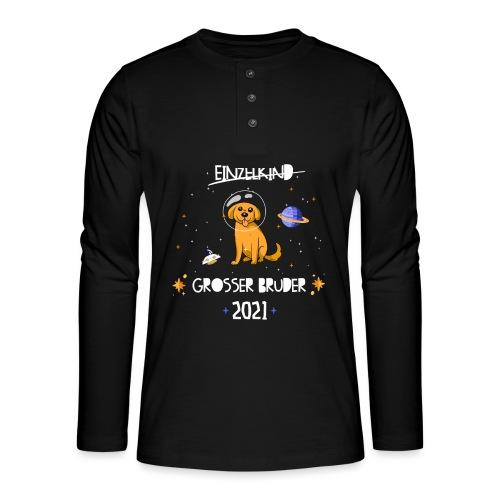 Großer Bruder 2021 Astronauten Hund Planeten - Henley Langarmshirt