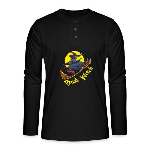 Bad Witch Outfit für Hexen im Kessel brauen - Henley Langarmshirt
